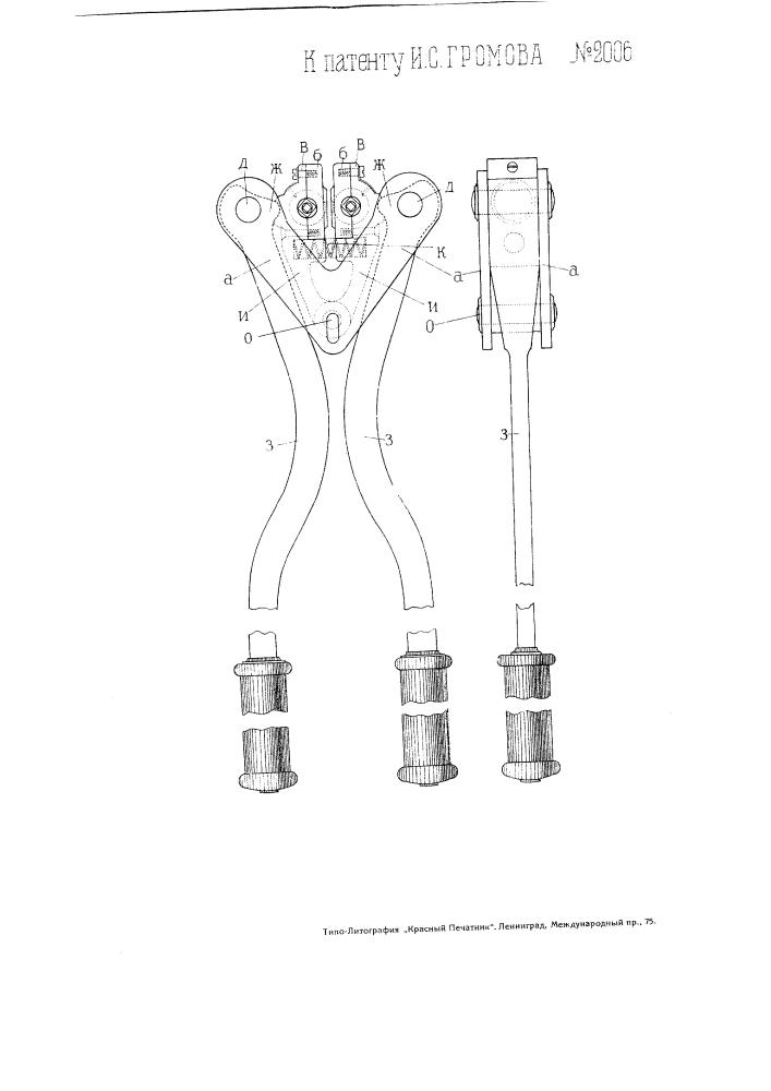 Пломбировальные щипцы (патент 2006)