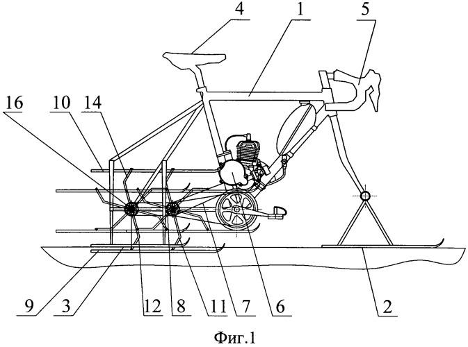 Движитель для снегохода (патент 2526311)