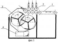 Патент 2282686 Мяльно-трепальный станок для выделения волокна из стеблей тресты лубяных культур