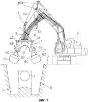 Патент 2309223 Система для землеройных работ под заглубленными трубами
