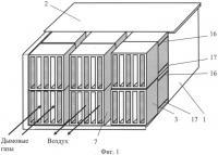 Патент 2487301 Полифункциональный стеклоблочный воздухоподогреватель
