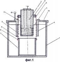 Патент 2617081 Электролизер для получения порошка припоев
