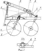 Патент 2350059 Авторегулируемая дисковая борона