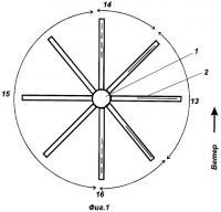 Патент 2331794 Парусный ветродвигатель