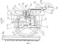 Патент 2604924 Бесчелюстная трёхосная тележка тепловоза