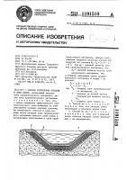 Патент 1191510 Способ укрепления откосов и ложа канав