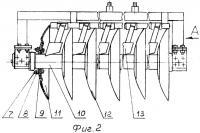 Патент 2370927 Борона тяжелая ротационная