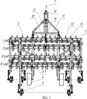 Патент 2387116 Дисковое почвообрабатывающее орудие