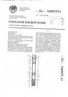 Патент 1665079 Скважинный штанговый насос