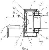 Патент 2320925 Тягодутьевое устройство для перемещения химически агрессивных или высокотемпературных невзрывоопасных газовых сред