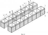 Патент 2651591 Объемная габионная конструкция