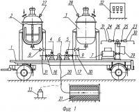 Патент 2288205 Передвижная установка для приготовления и подачи флегматизирующего состава в полости утилизируемых зарядов из стрт