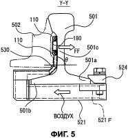 Патент 2600559 Устройство участка стрелочного перевода рельсового пути для удаления постороннего материала