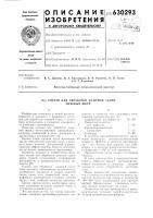 Патент 630293 Состав для обработки кожевой ткани меховых шкур