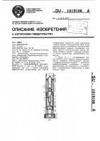 Патент 1019106 Скважинный штанговый насос