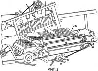 Патент 2488263 Система механической подачи недомолота для вторичного обмолота на возвратную доску