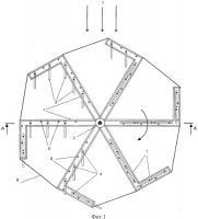 Патент 2498109 Карусельное ветроколесо