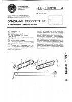 Патент 1029891 Устройство для очистки семян зерновых культур