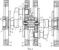 Патент 2341709 Зубчатый преобразователь возвратно-поступательного движения во вращательное и наоборот, коленчатая пара, промежуточный вал и узел соединения промежуточного вала с противовесом коленчатой пары для него