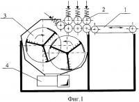 Патент 2311500 Мяльно-трепальный станок для выделения волокна из стеблей тресты лубяных культур
