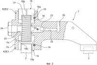 Устройство для приведения в действие двух нагруженных клапанным мостом выпускных клапанов клапанного двигателя внутреннего сгорания