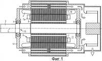 Патент 2497260 Электрическая машина с повышенной степенью защиты с улучшенным охлаждением ротора