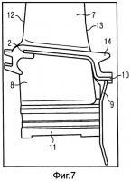 Патент 2486349 Уплотнительный гребень, узел лопаток турбины и газовая турбина, содержащая такой узел лопаток