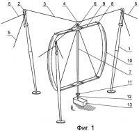 Патент 2454564 Ветросиловая установка с ротором дарье