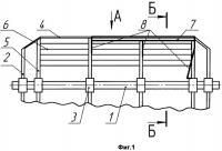 Патент 2350701 Секция трепальной машины для обработки лубяных волокон