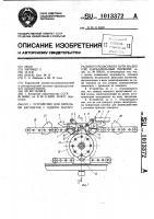 Патент 1013372 Устройство для передачи вагонеток с одного магистрального рельсового пути на другой,параллельный первому