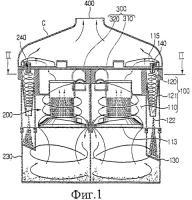 Патент 2331731 Мультициклонное пылеулавливающее устройство