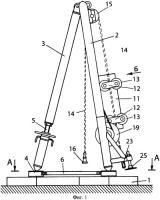 Патент 2320894 Безбалансирный привод штангового глубинного насоса