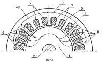 Патент 2516250 Однофазный асинхронный электродвигатель
