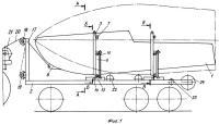 Патент 2250166 Способ погрузки и перевозки крупногабаритных грузов, преимущественно маломерных судов, и транспортное средство для его осуществления