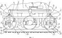 Патент 2655974 Бесчелюстная тележка локомотива