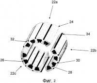 Патент 2507662 Разделенная вдоль оси конструкция статора для электродвигателей