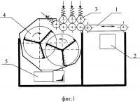 Патент 2309202 Мяльно-трепальный станок для выделения волокна из стеблей тресты лубяных культур