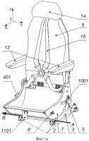 Патент 2583102 Кресло летного экипажа с чашкой под парашют (варианты)