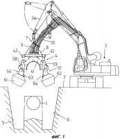 Патент 2309224 Система для землеройных работ под заглубленными трубами