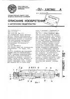 Патент 1207861 Устройство для транспортирования груза по болотистой местности