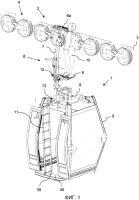 Патент 2659154 Установка воздушной канатной дороги, в частности кресельный подъемник или гондольный подъемник, и устройство для ее обслуживания