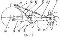 Патент 2289897 Ротационное почвообрабатывающее орудие