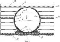 Патент 2280124 Водопропускное сооружение в армогрунтовой обойме