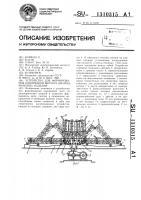 Патент 1310315 Устройство для формирования однорядной щети из цилиндрических изделий