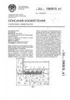 Патент 1583515 Устройство для защиты оснований речных берегоукрепительных сооружений от подмыва