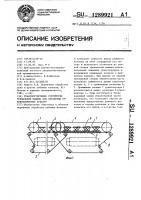 Патент 1289921 Транспортирующее устройство трепальной машины для обработки лубоволокнистых культур