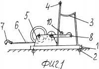 Патент 2520851 Тяговая машина с почвообрабатывающими прицепными орудиями, приводимыми в действие мускульной силой человека
