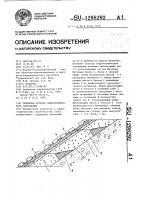 Патент 1298292 Покрытие откосов гидротехнического сооружения