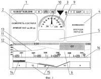 Патент 2494905 Способ организации визуальной справочно-информационной поддержки машиниста поезда
