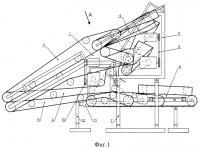Патент 2318929 Устройство для съема тресты льняной с транспортера сушилки